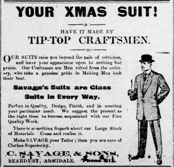 19171204-armidaleExpress-advert-savage-and-sons.png