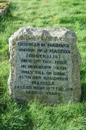 Deborah maria hancox maddox 1860 1962